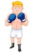 illustration of Cartoon  boxer