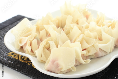 Chinese cooking raw dim sum Wantan