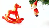 Wooden horse and Christmas decoration