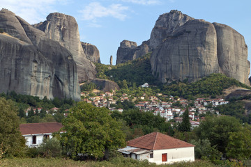 Kastraki village at Kalambaka city in Greece