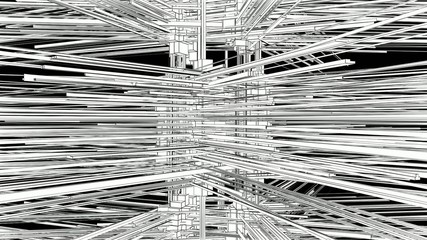 Abstract Structure Construction In Chaos Animation 04