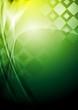 Bright green tech background. Vector