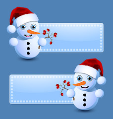 Cute little snowman banners