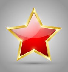 Red glossy star