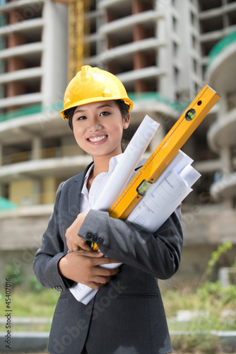 Cheerful engineer