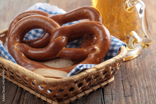 Pretzels with beer