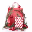 shopping bag and christmas decoration