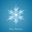 Christmas snowflake greeting