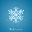 Christmas snowflake greeting