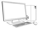 Desktop PC computer workstation poster