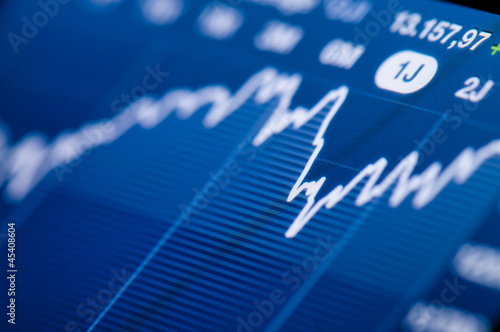Stock chart growth - 45408604