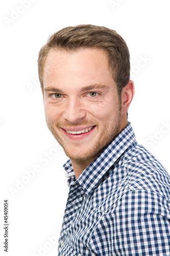 Junger Mann mit Karohemd