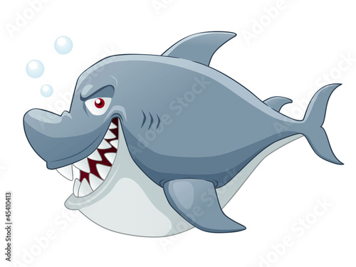 Illustration of Cartoon Shark