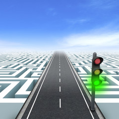 Leadership and business vision. Road to success.