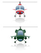 set icons helicopter vector illustration