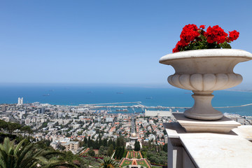 Sea view of Haifa,Israel