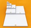 3D DIN Format Konzept A0 bis A8 - Weiß auf Orange 01