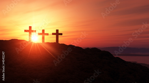 3 Kreuze Auf dem Gipfel - 45412247