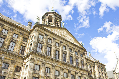 The Royal Palace in Dam, Amsterdam, Holland
