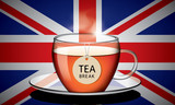 Cup of English tea with tag vector