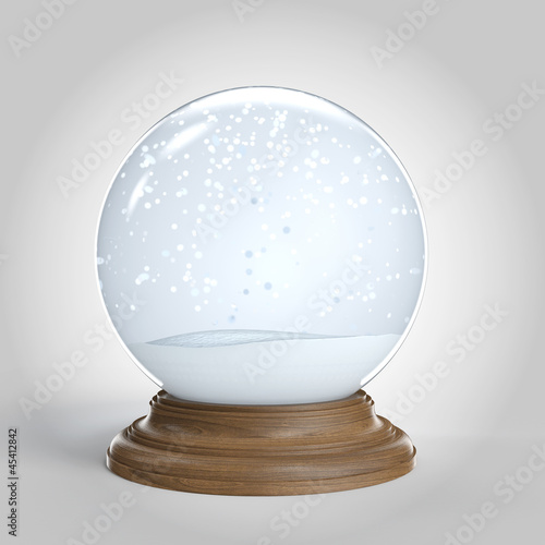 empty snowglobe isolated with copy space