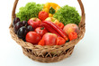 Basket with vitamins