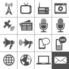 Media icons set - Simplus series
