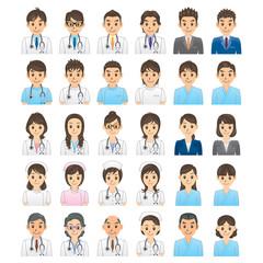 医者 看護師 患者 事務員