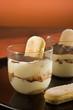 Traditional Italian dessert -  Tiramisu' dessert.