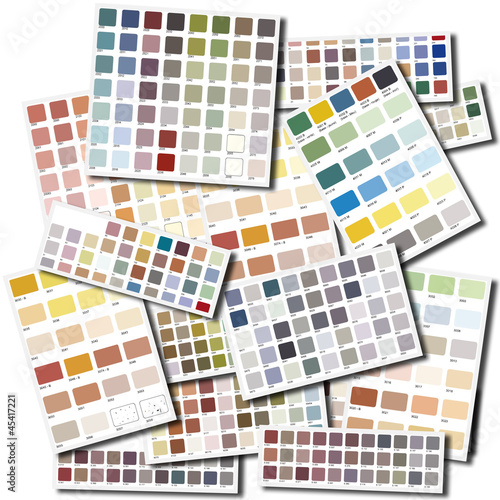 Color swatches collage