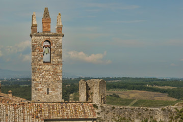 Bell & Tower of Monteriggioni Tuscany