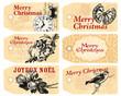 6 étiquettes Noël