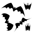 Halloween haunted bats