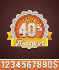 Vector discount badge