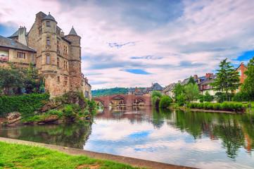 Le vieux palais,Espalion,Aveyron.