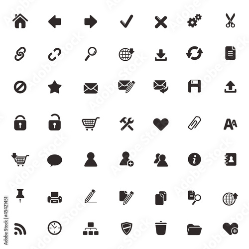 Set of 49 high quality web and office icons