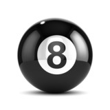 3d 8 Ball on white background