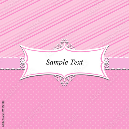Decorative card template with frame, Vector