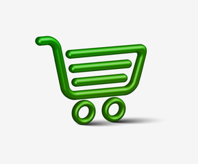 Vector shopping cart item - buy buttons design.