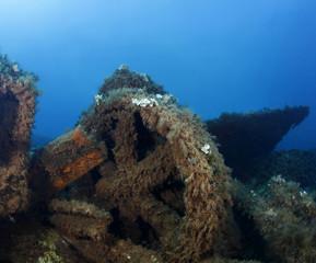 relitto nave affondata mediterraneo subacquea