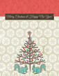 background with christmas tree, vector