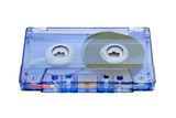 cassette on white background