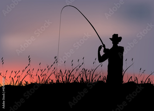 fisherman in the swamp