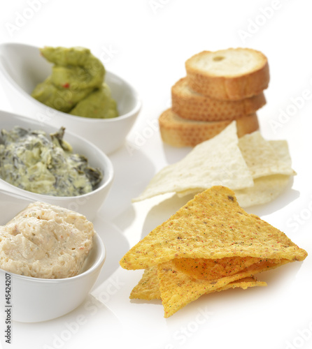 Dips With Chips And Toasts