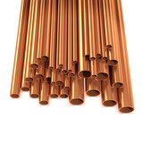 3d Top view of copper tubing for plumbing