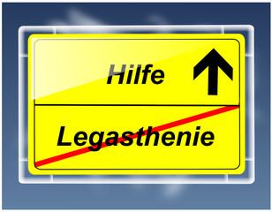 Schild - Legasthenie/Hilfe