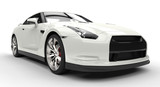 White Sports Car Power Photo