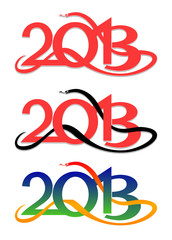 Symbol of 2013 year -snake - in vector