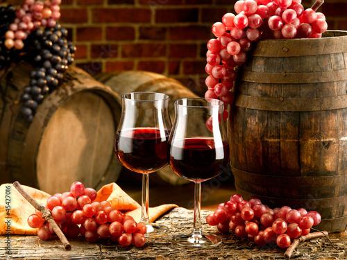 Zdjęcia na płótnie, fototapety na wymiar, obrazy na ścianę : vino