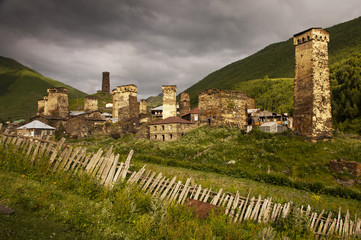The village of Ushguli, Georgia